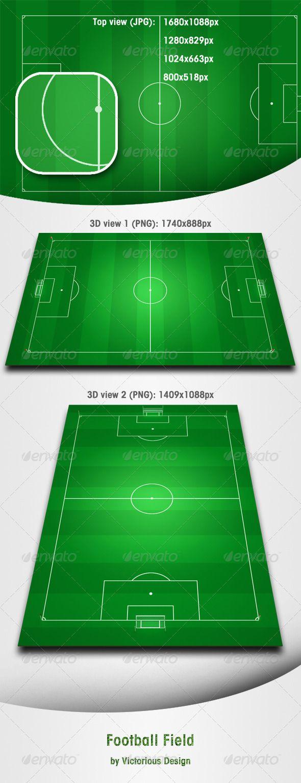 Football Field Football Field Sports Graphic Design Football