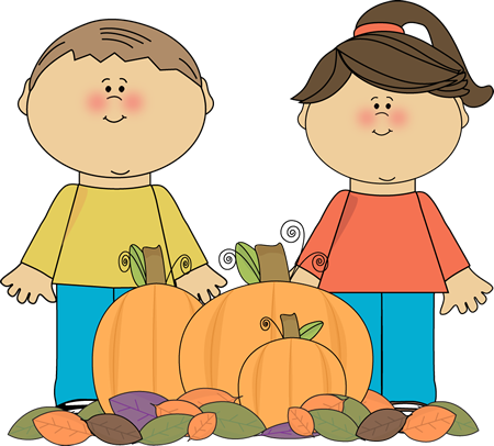 Image result for pumpkin and children clip art