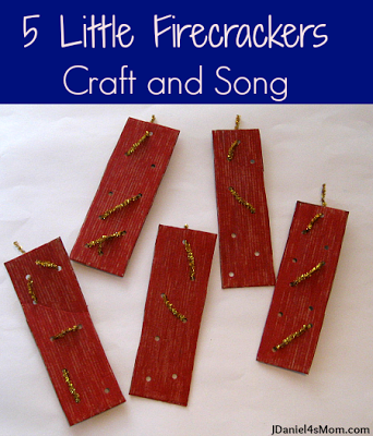 5 Little Firecrackers Craft and Song Circle time