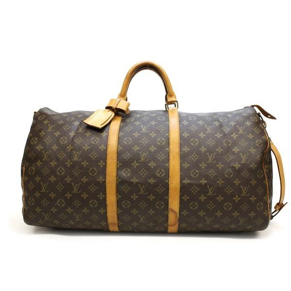 4ce384be8712 Louis Vuitton Keepall Bandouliere 60 Monogram Luggage Brown Canvas M41412