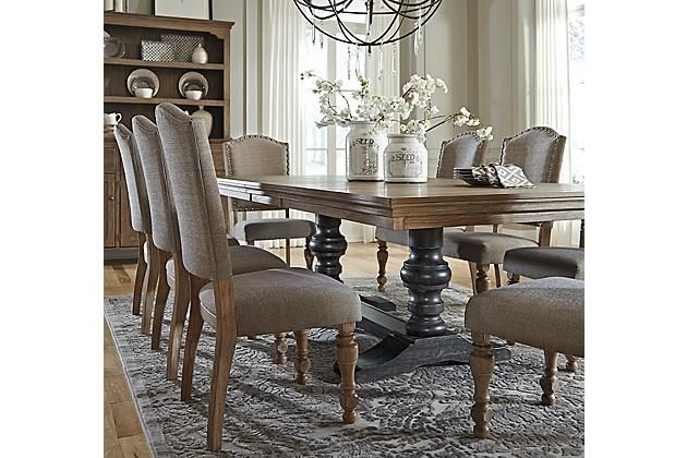 Captivating Ashley Furniture Tanshire Table, Base And Dining Room Chairs