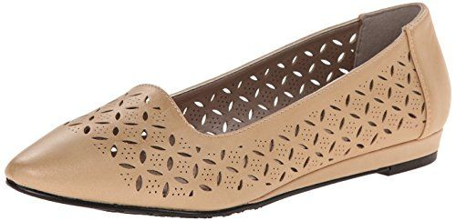 Soft Style By Hush Puppies Womens Dana Flat Light Gold Malta Burnish Polyurethane 8 N Us You Can Get More Hush Puppies Women Gold Slippers Flat Shoes Women