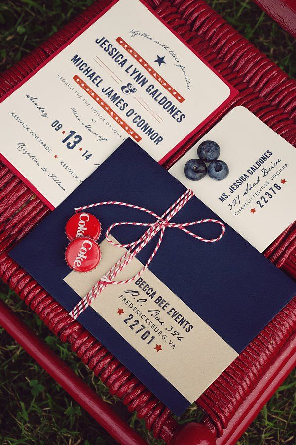Classic American Wedding Inspiration | Pinterest | Red white blue ...