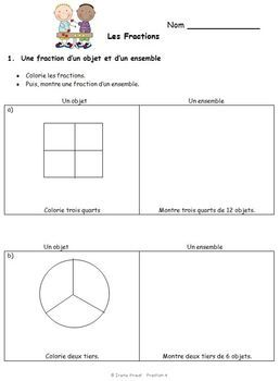french immersion fraction worksheets grade 3 4 5 customizable grade 4 fractions worksheets. Black Bedroom Furniture Sets. Home Design Ideas