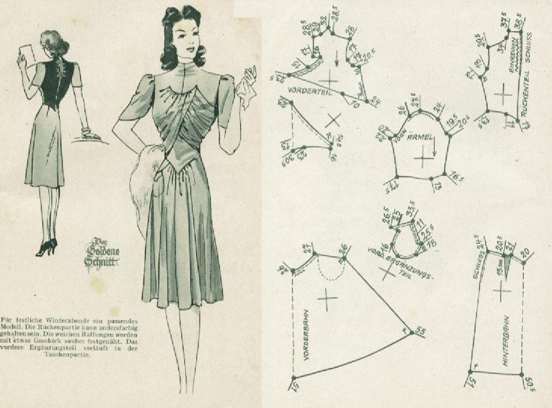 Pin de Gael Faure en couture   Pinterest   Vestidos vintage, Costura ...