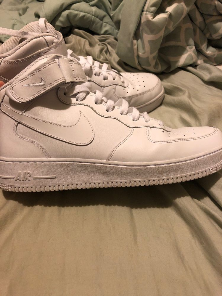 best authentic 6ecbe 02849 Nike Air Force 1 Mid Top (White) Mens Size 10.5 Pre-owned  fashion   clothing  shoes  accessories  mensshoes  athleticshoes (ebay link)