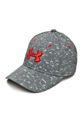 b6ceaf6b0f0 Under Armour GraphiteSteelRocket Red Printed Blitzing Cap Boys 8-20 ...