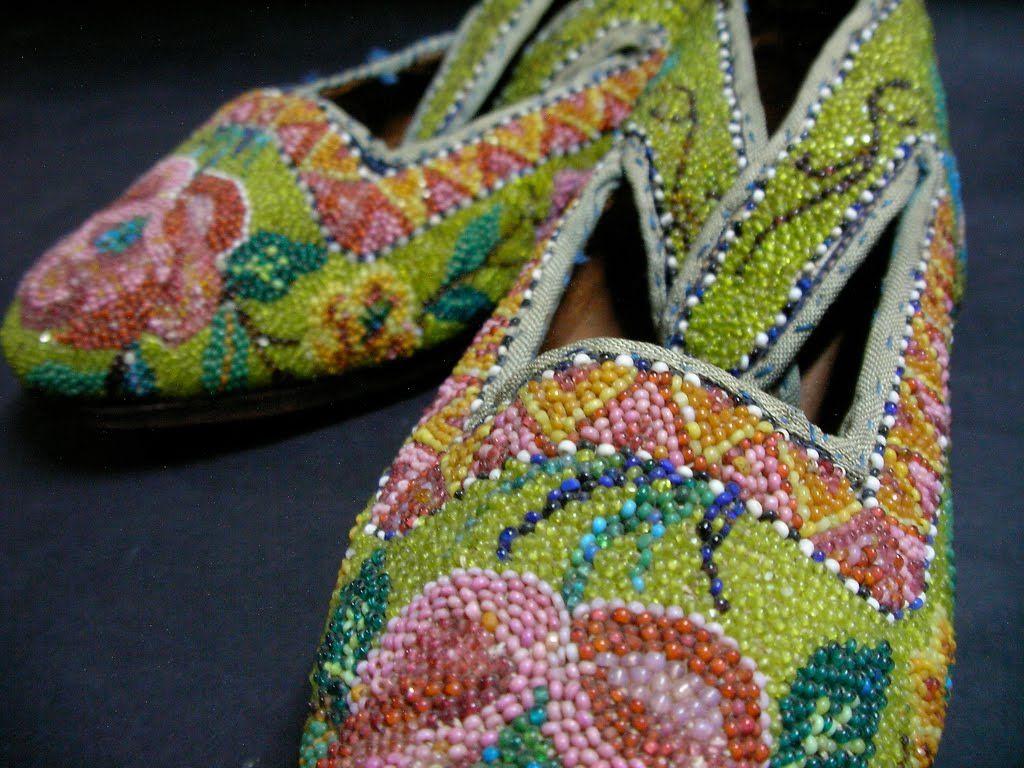 Peranakan Beaded Slippers From Malaysia Beaded shoes