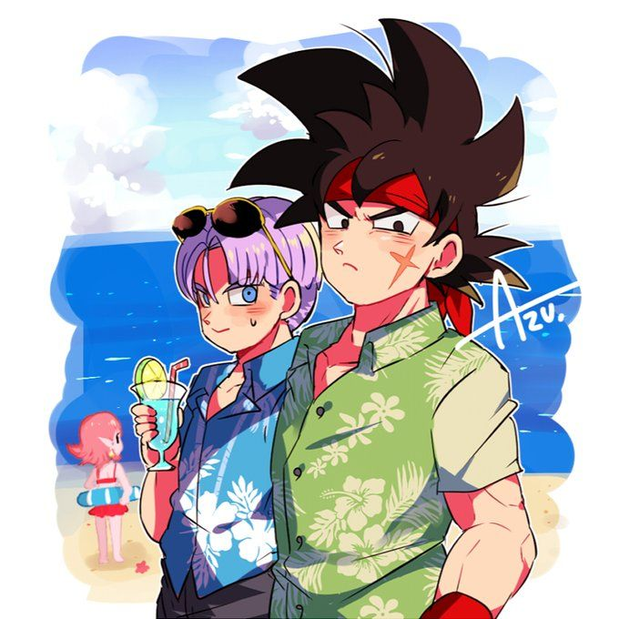 Credits to Azu on twitter Dragon ball art, Anime dragon