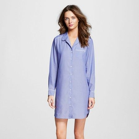 Women s Pajama Sleep Shirt Blue Chambray - Gilligan   O Malley™   Target d96ede985