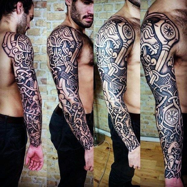 100 Norse Tattoos For Men Medieval Norwegian Designs Ink D