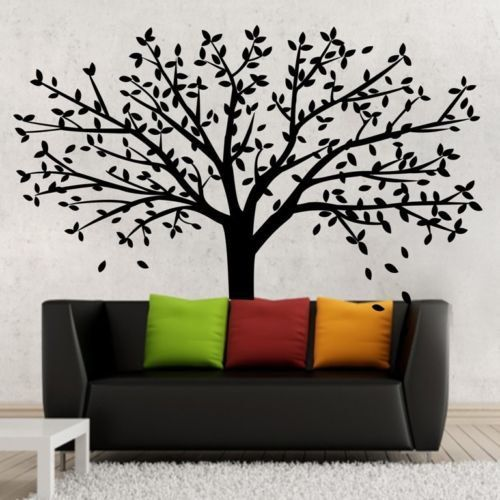 White Tree Wall Decal Huge Tree Wall by Walldecorative on Etsy & White Tree Wall Decal Huge Tree Wall by Walldecorative on Etsy ...