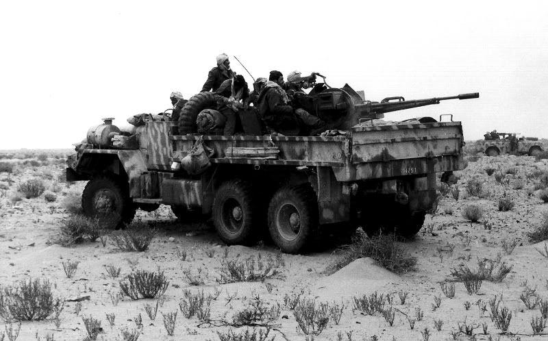 Moroccan M813 with ZU-23-2 mount, Western Sahara War.