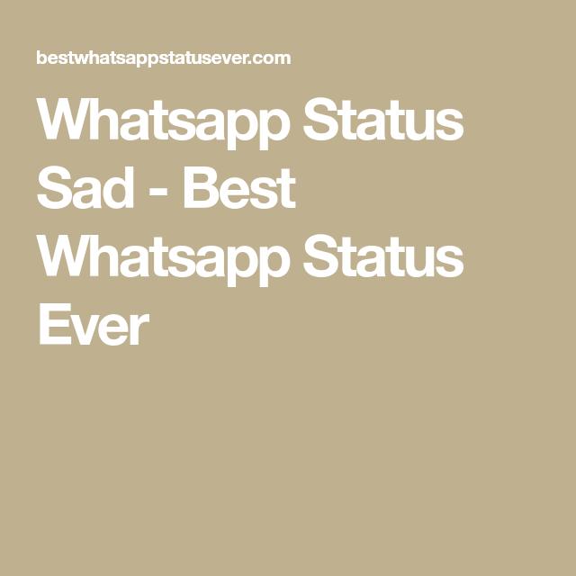 Saddest status ever