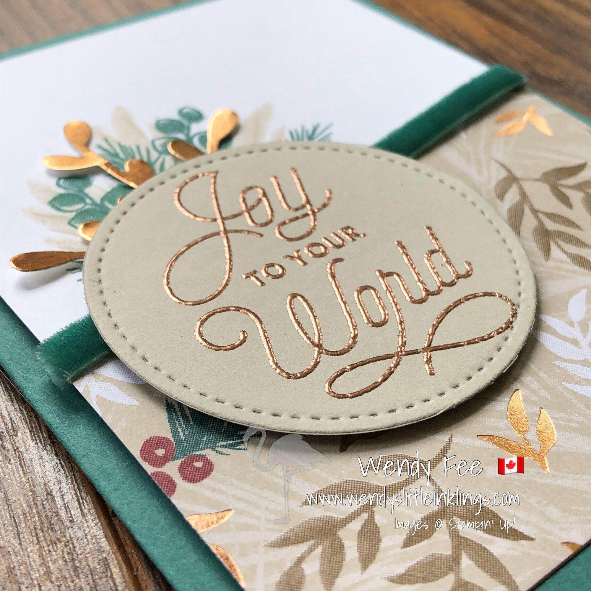 An Elegant card stamped with the Peaceful Noel Stamp Set | Stampin ...