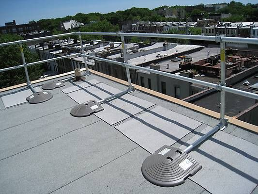 Roof Handrail System Keeguard Roof Handrail Roof Top Fall Protection Freestanding Roof Edge Protection Railing Roof Edge Railing Design