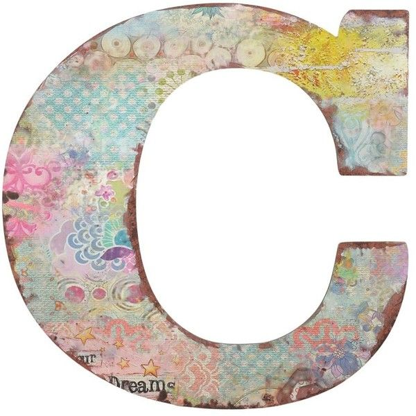 With An Eclectic Retro Look Personalize Your Wall Décor Our Vintage Fl Monogram C Plaque This Colorful Decorative Letter Is A Charming Accent
