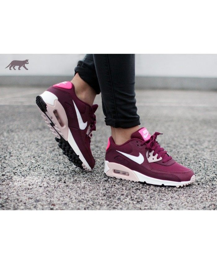 differently 8a2af d8638 pretty good! hot Nike Air Max 90 Essential Burgundy White Pink shoes