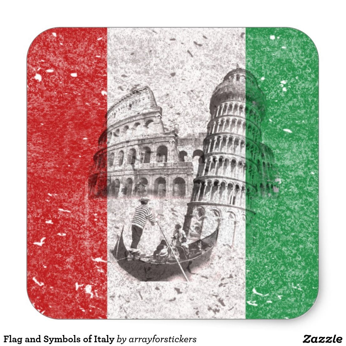 Flag And Symbols Of Italy Stickers This Patriotic Design Features