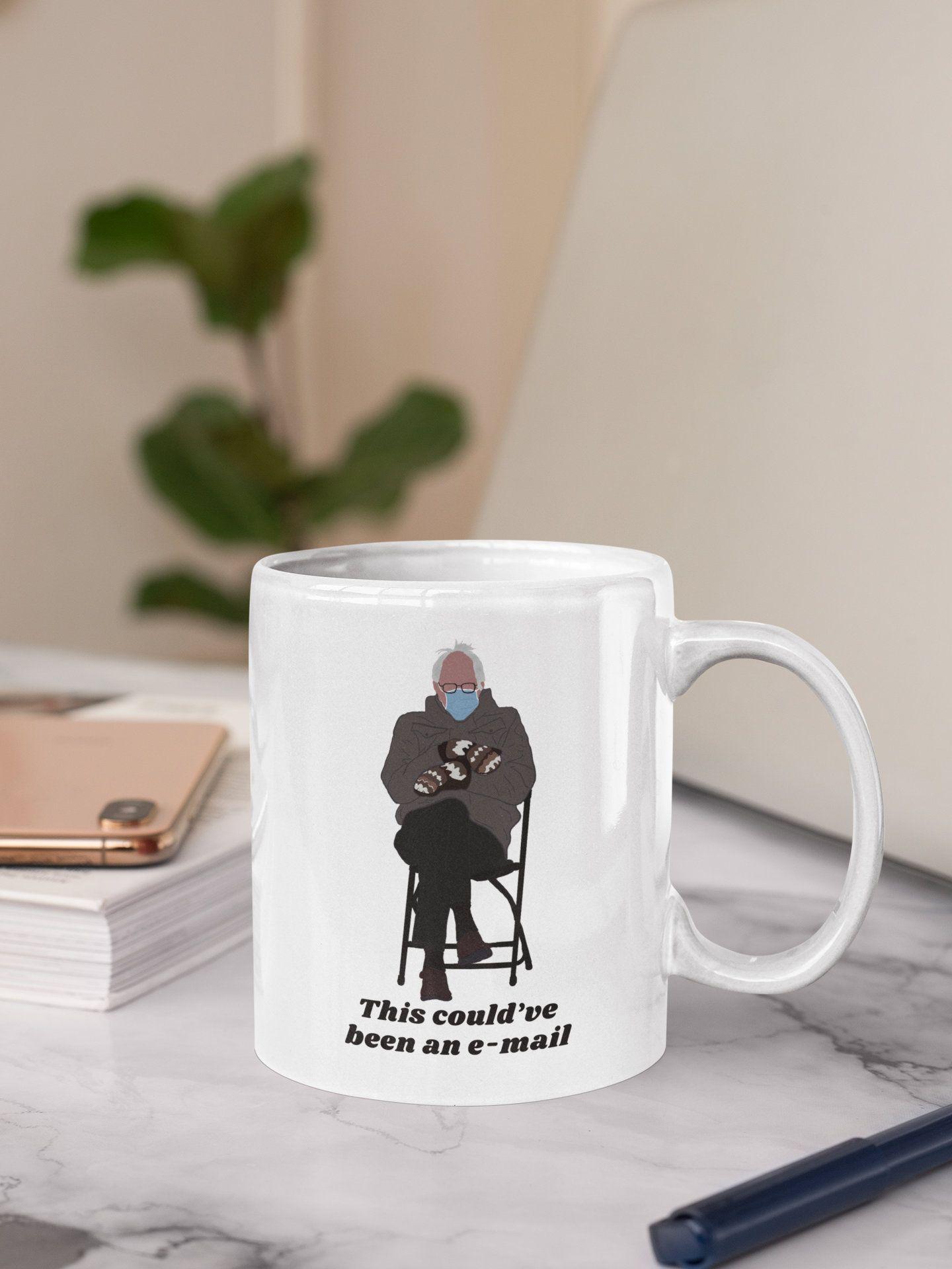 Bernie Sanders Gift Ideas Inaugurationmeme Berniemittens Coffeemugs Berniesanders Meme Gift Mood In 2021 Personalized Starbucks Cup Disney Accessories Gifts