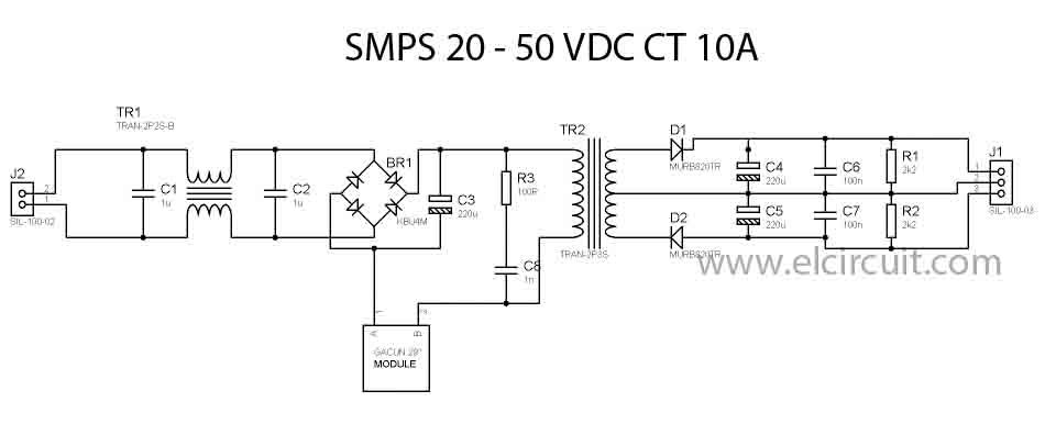 Switching Mode Power Supply 10a 20 50v Dc Ct Electronic Circuit Power Supply Circuit Switched Mode Power Supply Circuit Diagram