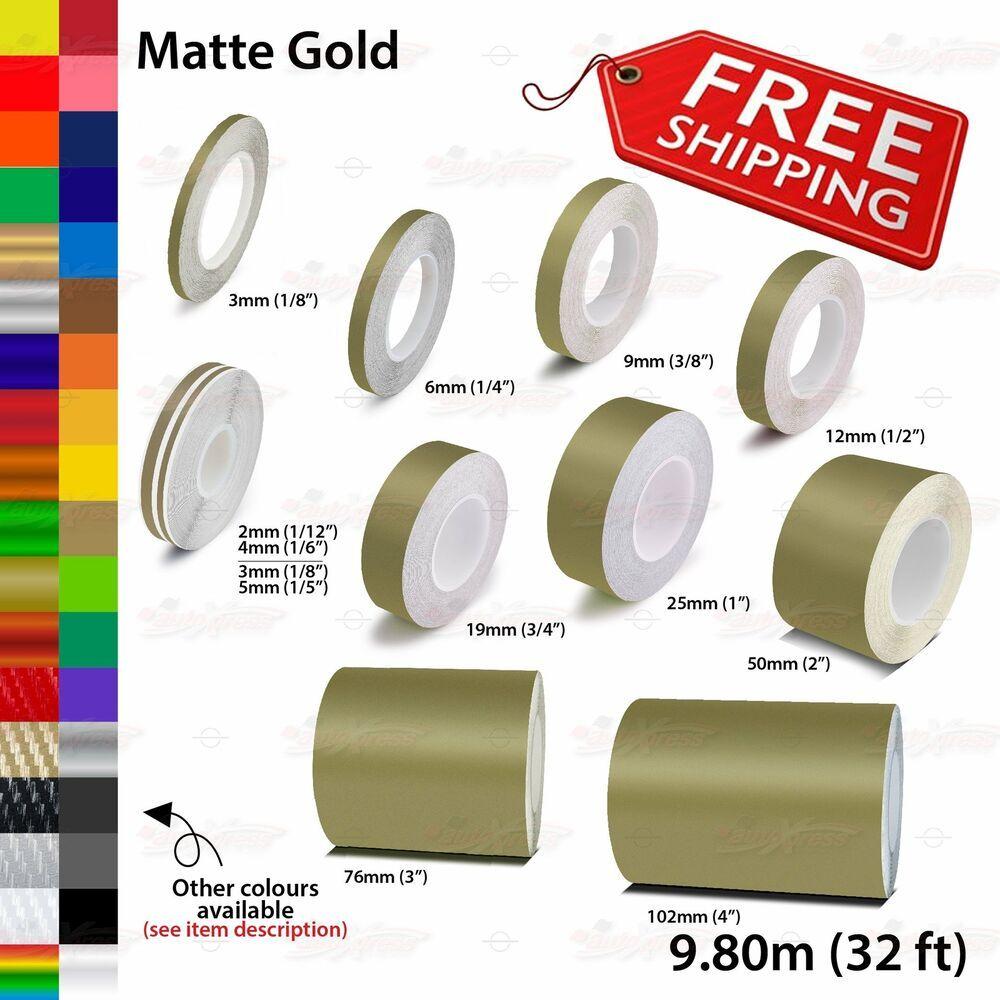 Matte Gold Roll Pin Stripe Body Pinstriping Trim Line Tape Decal Vinyl Stickers Unbrandedgeneric Vinyl Sticker Matte Gold Pinstriping