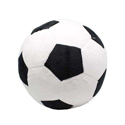 Tplay Soccer Ball Plush Pillow Toy 8 L X W H Black
