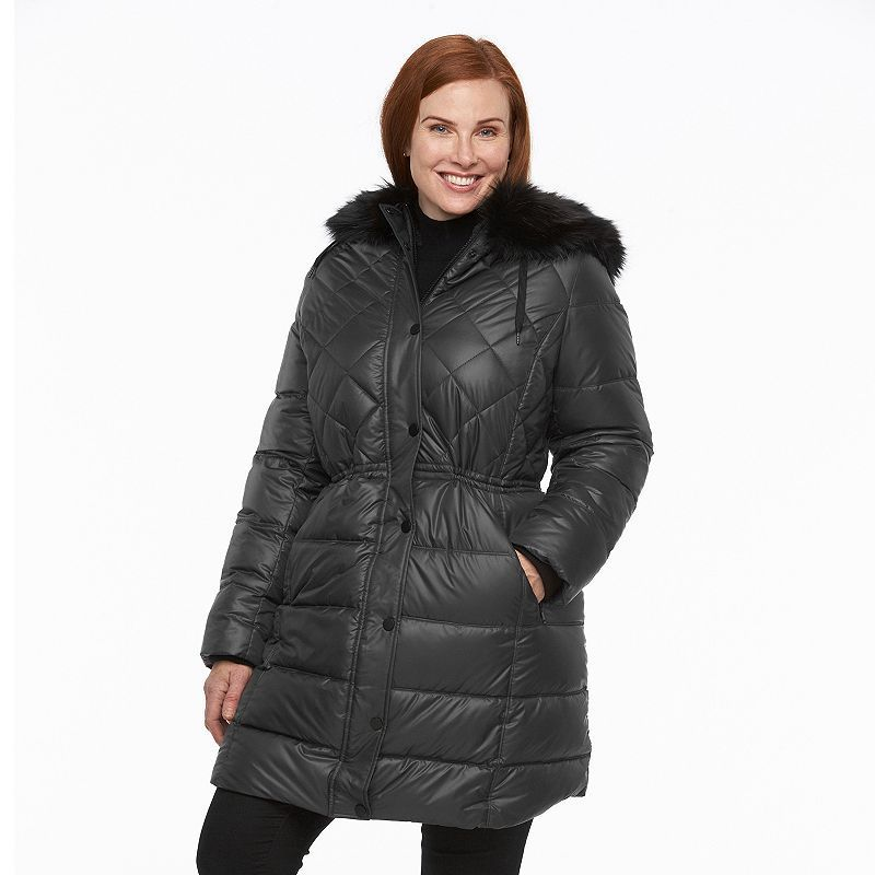3f221e107 Plus Size Apt. 9¨ Hooded Anorak Puffer Jacket | Products | Puffer ...