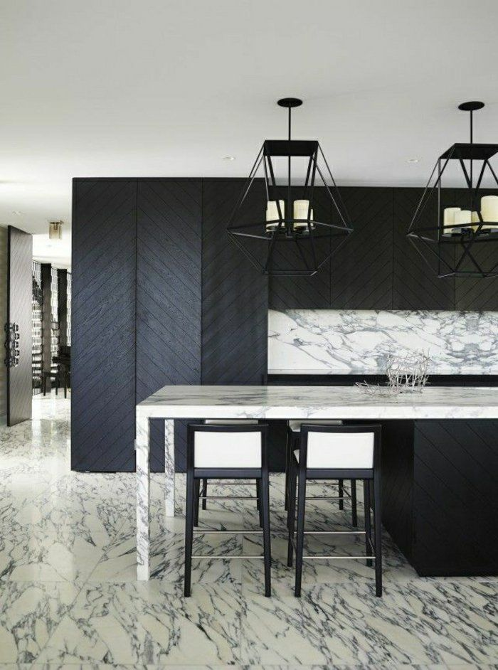 On vous présente la table en marbre! - meuble en fer design