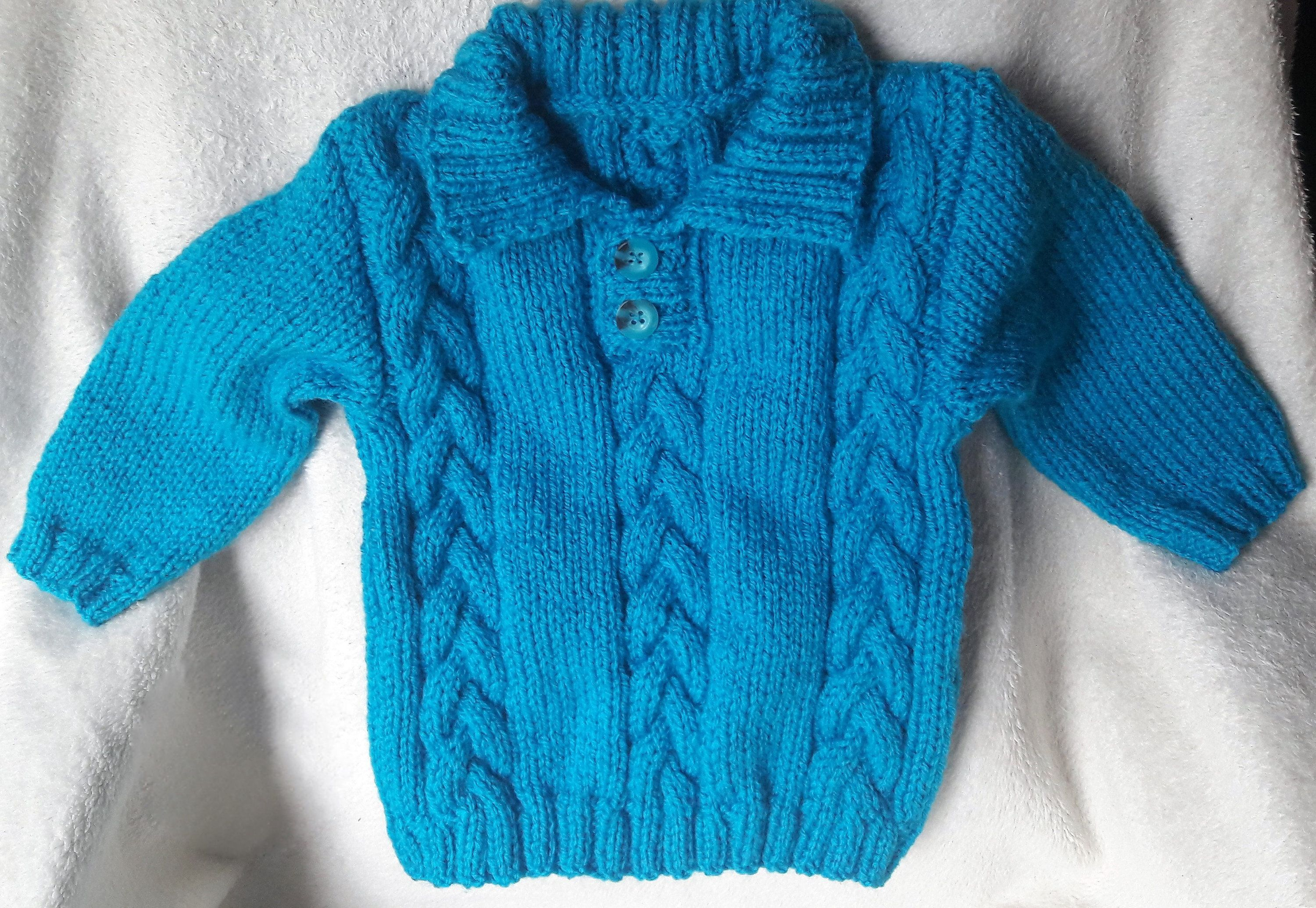 Children's sweater with cable detail, unisex toddler's jumper, gift idea, hand knit, kid's clothing #children'ssweaters