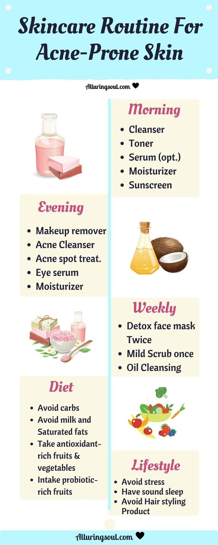 Natural Skin Care Guide Für zu Akne neigende Haut