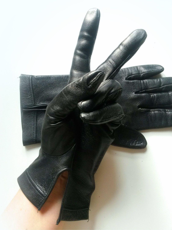 719f88b2cc6a vintage Italy unisex 1980 Gloves Leather Driving Motorcycle Gloves Moto  biker black soft Leather Gloves elegant stylish softest gloves by ...