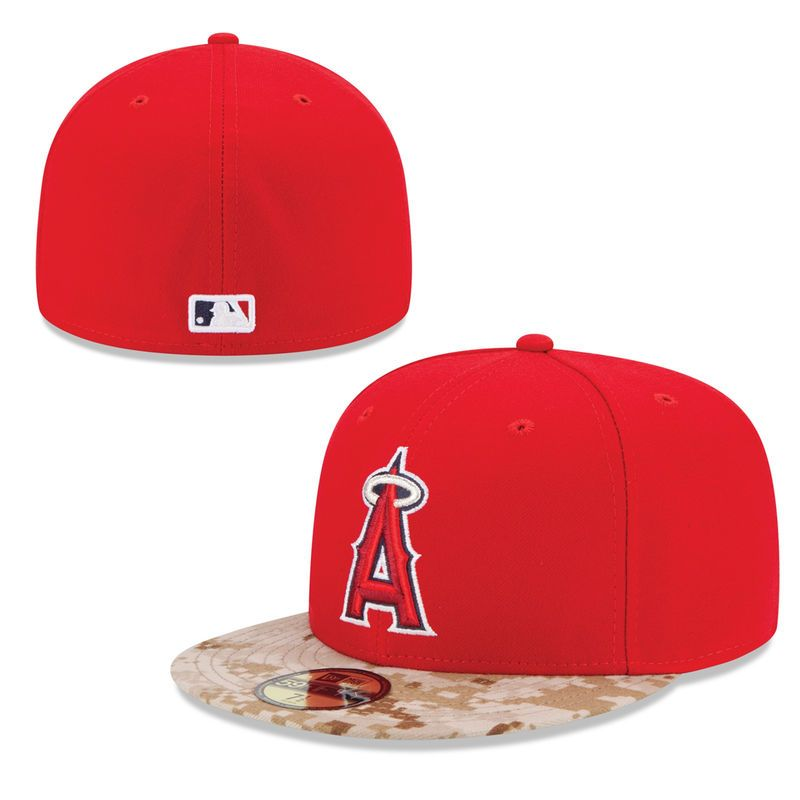 7b228db339c417 Los Angeles Angels of Anaheim New Era 2015 Memorial Day On-Field 59FIFTY  Fitted Hat - Red
