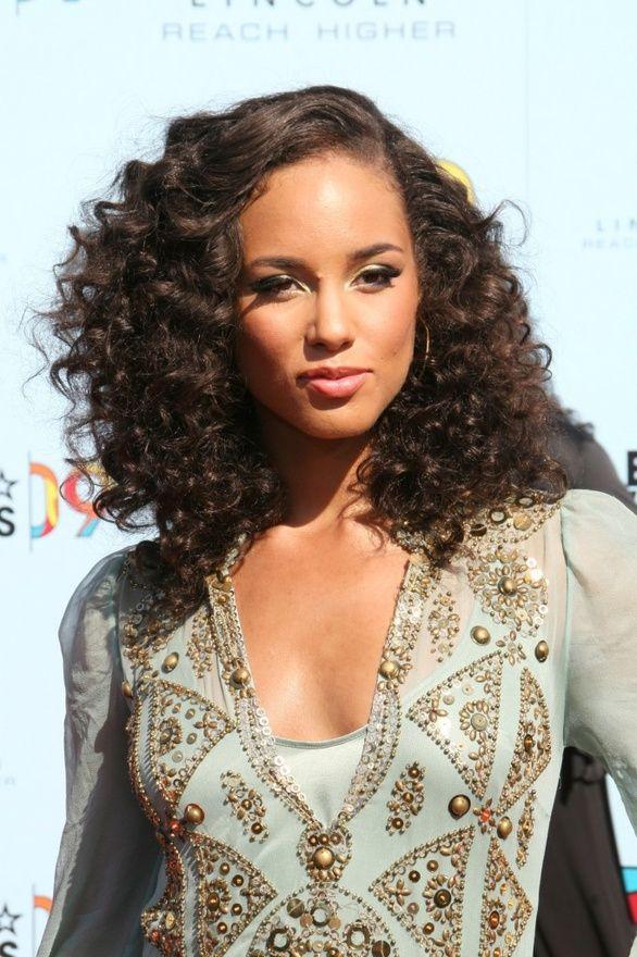 curly hairstyles alicia keys hairstyle peinados celebrity cortes pelo 3b length morena yusrablog entrada guardado desde reciente
