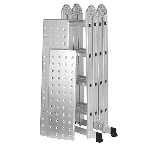 Finether 15 4 Ft Extendable Aluminum Folding Ladder With Https Www Amazon Co Uk Dp B01eiuv37q Ref Cm Sw R Pi Dp Attic Shelves Attic Design Attic Remodel