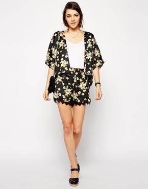floral shorts with lace edges @asos