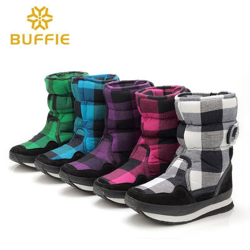 50d8838346c8 Women Simple stylish Wear Warm Non-slip Cotton Snow Middle Boots ...