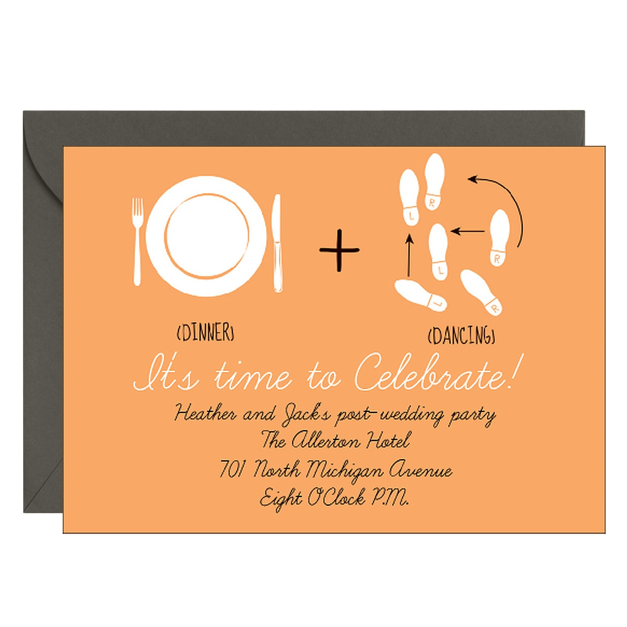 o.m.g. --> Dinner + Dancing Party Invitation