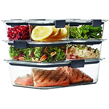 Rubbermaid Brilliance Food Storage Container Set 22 Piece Clear Fair Amazon Rubbermaid Brilliance Food Storage Container 14Piece Design Decoration