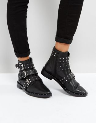 3edff40920a Stradivarius Multi Buckle Ankle Boots at asos.com | @giftryapp ...