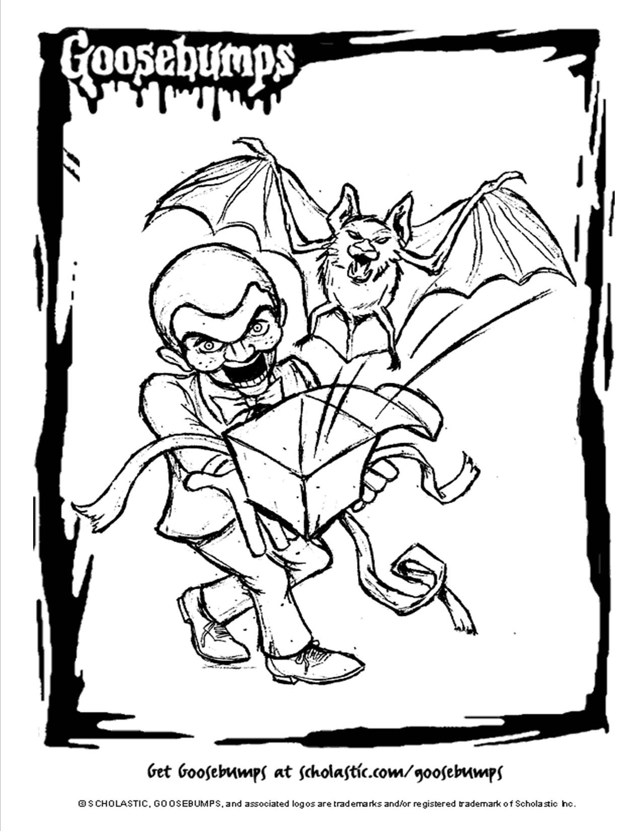 Scholastic Books Goosebumps coloring page. | Movie Theater / Library ...