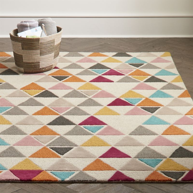 Totally Triangular Kids Rug Crate And Barrel Triangle Rug Kids Rugs Rugs On Carpet
