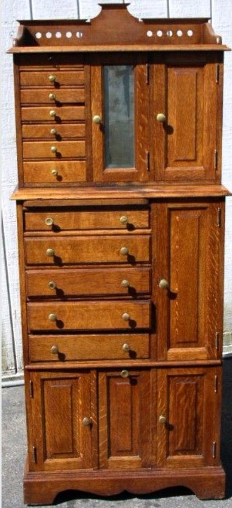 Antique Oak Dental Cabinet Furniture Pinterest Dental Antique