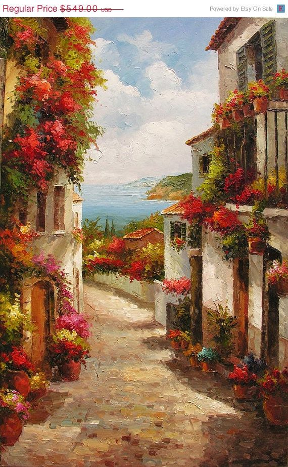 Sale ORIGINAL Oil Painting The Beauty of Summer by ArtPaintingsMP