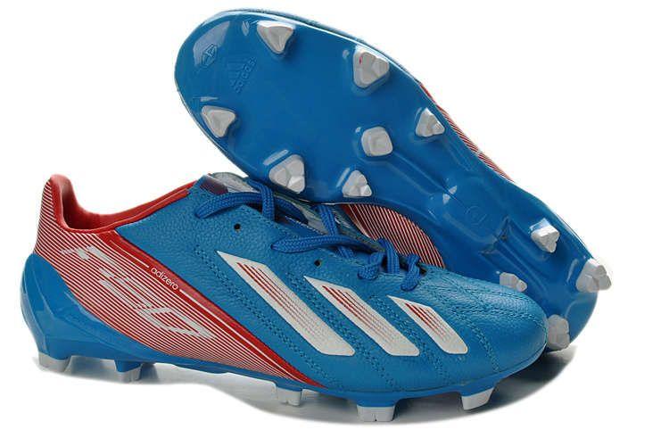 Best Adidas F50 Adizero miCoach Leather FG Messi Cleats Sale Blue Red White 0fba033e63
