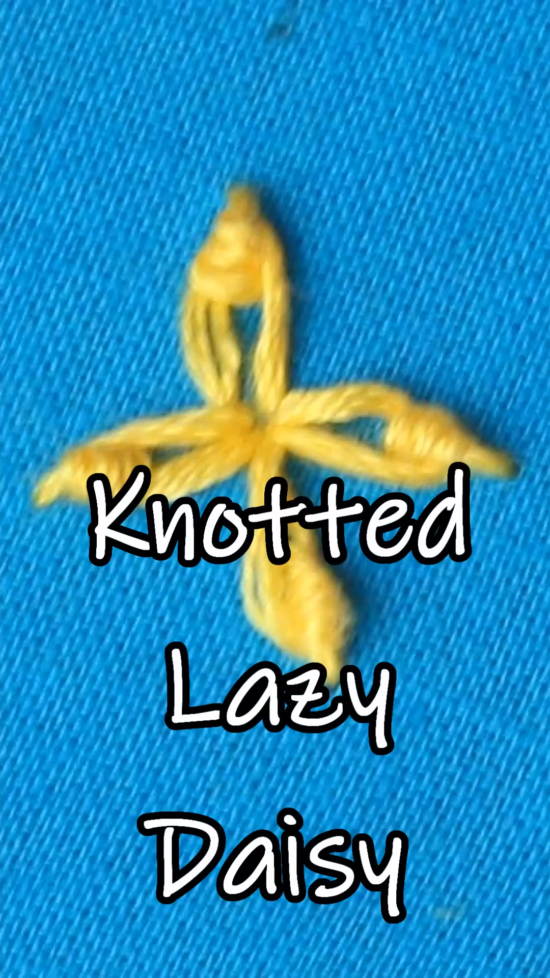 Photo of Knotted Lazy Daisy #embroidery