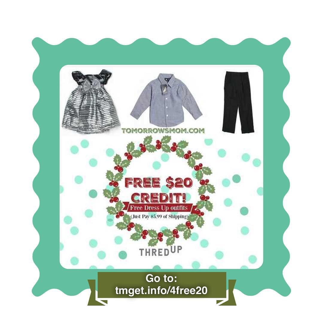 Need cute dress up clothes for the kids? And don't want to spend too much on a one time maybe twice outfit? And if you do not mid purchasing gently worn clothes (but many new w/tags options are available)  this is your deal  recerive a FREE $20 credit to shop on ThredUp.com from me to you(with activation link) and pick up some cute outfits for the kids. . .  I bought a Dress that retailed for $56.00 for only $5.99 for shipping. Great Deal! Don't miss out all items are unique and limited to…