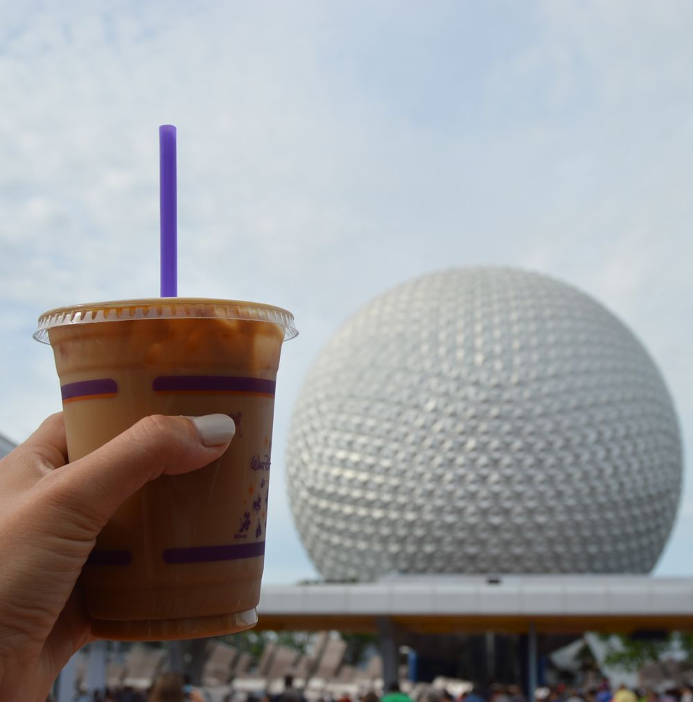Great way to start your day at Epcot!  Iced double vanilla latte from the Joffrey's right outside the gates!
