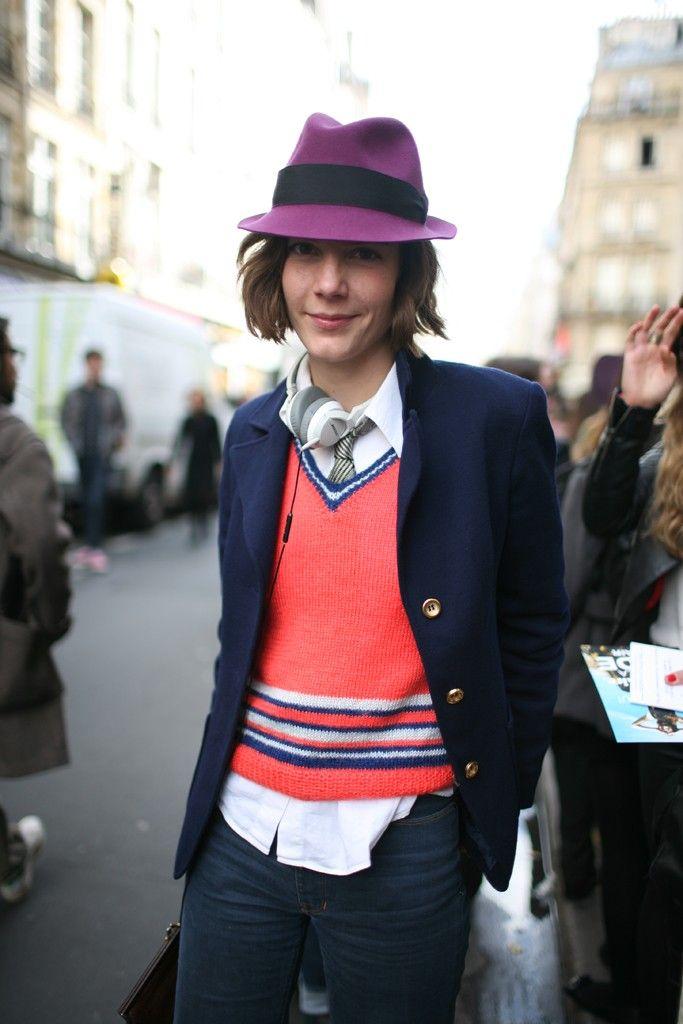 Outside the Paris shows  Photo by Kuba Dabrowski