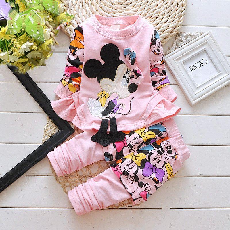 Spring Autumn Children Girls Clothes Sport Suit Clothing Set Cute
